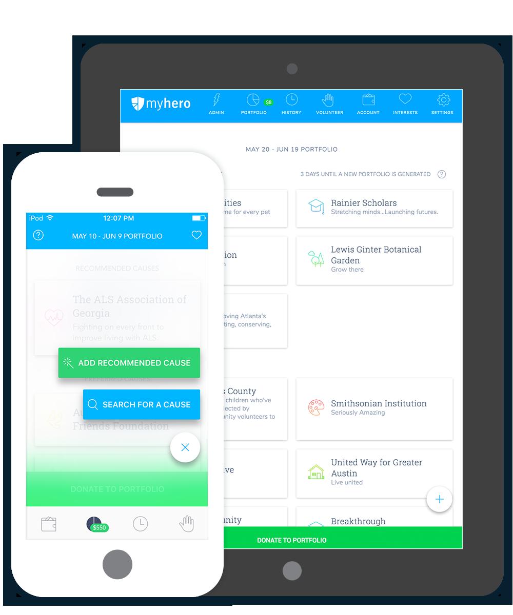 WorkHERO mobile app devices