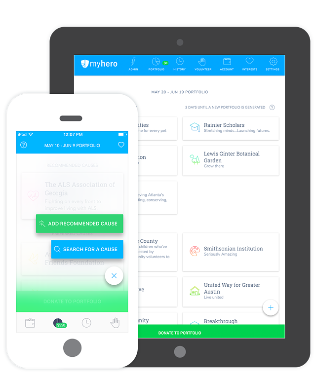 WorkHERO mobile app devices