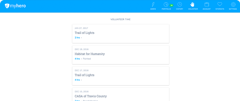 volunteer hour tracking platform