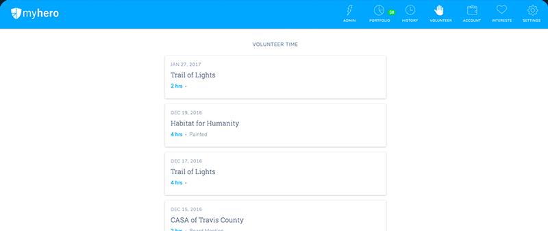 volunteer hour tracking platform